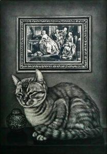 猫と西洋版画