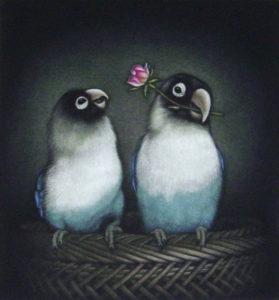 インコと花Ⅱ